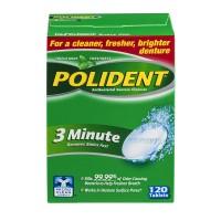 Polident 3 Minute Denture Cleanser Triple Mint Freshness Tablets