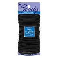Goody Ouchless Elastic Hair Ties No Metal Black