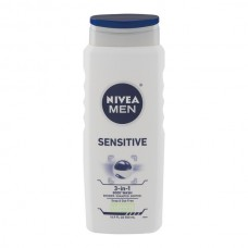 Nivea Body Wash Men 3-in-1 Sensitive Shower, Shampoo, Soothe