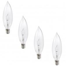 Sylvania 25-Watt Double Life B10 Incandescent Light Bulb (4-Pack)