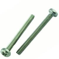 Everbilt M8-1.25 x 50 mm Stainless-Steel Pan Head Phillips Metric Machine Screw