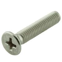 Everbilt M8-1.25 x 45 mm Stainless-Steel Flat Head Phillips Metric Machine Screw