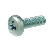 Everbilt M3-0.5 x 8 mm Zinc-Plated Pan Head Metric Machine Screw (3-Piece per Bag)