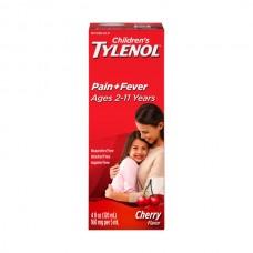 Tylenol Children's Acetaminophen Oral Suspension Pain + Fever Cherry