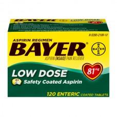 Bayer Low Dose Aspirin Regimen 81 mg Enteric Coated Tablets