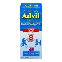 Advil Children's Fever Reducer Pain Reliever Ibuprofen Grape Suspension