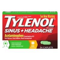 Tylenol Sinus + Headache Day Acetaminophen Pain Reliever Caplets
