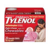 Children's Tylenol Pain + Fever Chewable Tablets Bubblegum Flavor