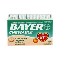 Bayer Low Dose Aspirin Regimen 81 mg Orange Flavored Chewable Tablets