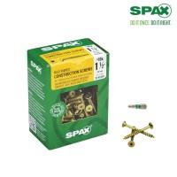SPAX #10 x 1-1/2 in. T-Star Drive Flat Head Partial Thread Yellow Zinc Coated Screw (135 per Box)