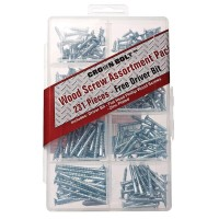 Everbilt Zinc-Plated Wood Screw Assortment (231-Piece per Pack)