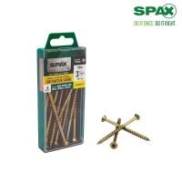 SPAX #14 x 3-1/2 in. T-Star Drive Flat-Head Partial Thread Yellow Zinc Multi-Material Screw (10 per Box)