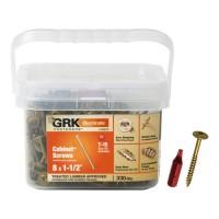 GRK Fasteners #8 x 1-1/2 in. Low-Profile Washer-Head Cabinet Screw Pail (330-Piece)