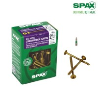 SPAX #10 x 2-1/2 in. T-Star Drive Washer / Wafer Head Partial Thread Yellow Zinc Coated Cabinet Screw (75 per Box)