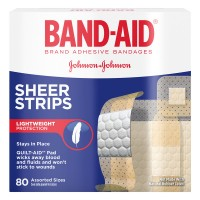 Johnson & Johnson Band-Aid Bandages Sheer Strips Assorted Sizes