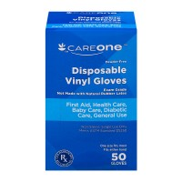 CareOne Vinyl Gloves Latex Free Powder Free Disposable