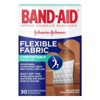 Johnson & Johnson Band-Aid Bandages Flexible Fabric Assorted Sizes