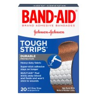 Johnson & Johnson Band-Aid Bandages Tough Strips 1 x 3 1/4 Inch
