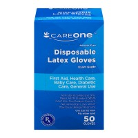 CareOne Latex Exam Gloves Powder Free Disposable