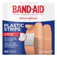 Johnson & Johnson Band-Aid Bandages Plastic Strips 3/4 X 3 Inch