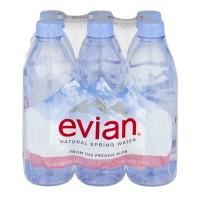 Evian Spring Water Natural - 6 pk