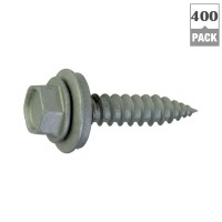 Teks #9 x 1-1/2 in. Hex-Head Roofing Screws (400-Pack)
