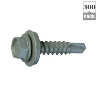 Teks #12 x 1-1/2 in. Hex-Head Roofing Screws (300-Pack)