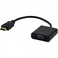 "Staples 6"" HDMI® to VGA Adapter, Black"