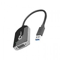 SIIG USB 3.0 to VGA Male to Female Video Adapter, Black