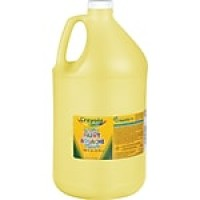 Binney & Smith Crayola® Washable Paints, Yellow, 1 Gallon