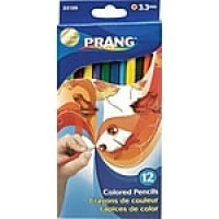 Prang® (Dixon Ticonderoga®) Colored Pencils, 3.3mm, Sharpened, Assorted Colors, 12/Set