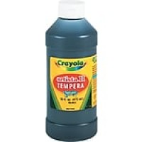 Binney & Smith Crayola® Artista II Washable Tempera Paint, Black, 16 oz.