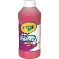 Binney & Smith Crayola® Artista II Washable Tempera Paint, Red, 16 oz.