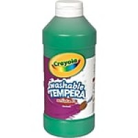 Binney & Smith Crayola® Artista II Washable Tempera Paint, Green, 16 oz.