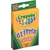Binney & Smith Crayola® Glitter Crayons, 16/Bx