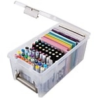 ArtBin® Super Satchel™ Marker Storage Satchel, Translucent Clear (6934AB)