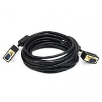 Monoprice® 15' Ultra Slim Super VGA Male to Male 30 to 32AWG Monitor Cable With Ferrites, Black