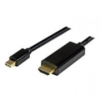 StarTech.com® MDP2HDMM3MB 3 m Mini DisplayPort to HDMI Adapter Cable, Black (MDP2HDMM3MB)