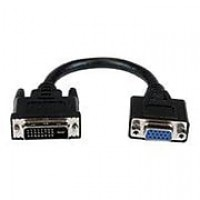 "AddOn® 8"" DVI-D Male to VGA Female Active Adapter Cable, Black"