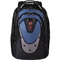 "SwissGear 17"" Backpack with iPod/MP3 Player Compartment, Blue/Black (27316060)"
