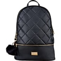 Staples Newbury Quilted Backpack with Tassel, Black (51035)