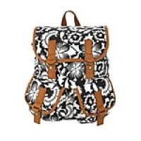 Staples Windsor Backpack, Black and White Floral Pattern (52426)