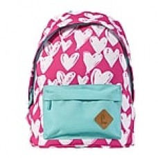 """Staples Kid's 16"""" Hearts Pattern Backpack (51030)"""