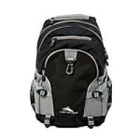 High Sierra Loop Black Charcoal Polyester Backpack (53646-1053)
