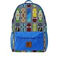 "Staples Paxton 16"" Backpack, Skateboard Pattern, 4.72""W x 16.14""H x 11.81""D (52401)"