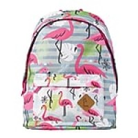 "Staples Kid's 16"" Flamingos Pattern Backpack (51028)"