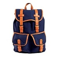 Staples Canvas Rucksack Backpack, Navy (51040)