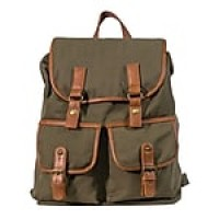 Staples Canvas Rucksack Backpack, Brown (51041)