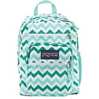 "Jansport Big Student Backpack, 17.5"" x 13"" x 10"", Aqua Chevron (JS00TDN70C6)"
