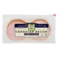 Jones Dairy Farm Canadian Bacon Hickory Smoked Center Cut - 10 ct